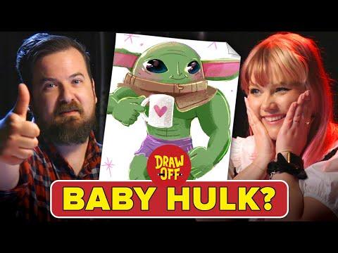 Animator Vs. Cartoonist Draw Baby Yoda Mashups  Draw-Off