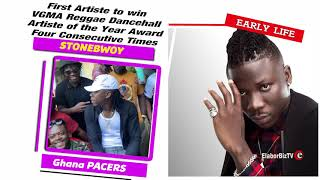 Stonebwoy   First Ghanaian Artiste to win VGMA Reggae Dancehall Artiste of the Year four consecutive
