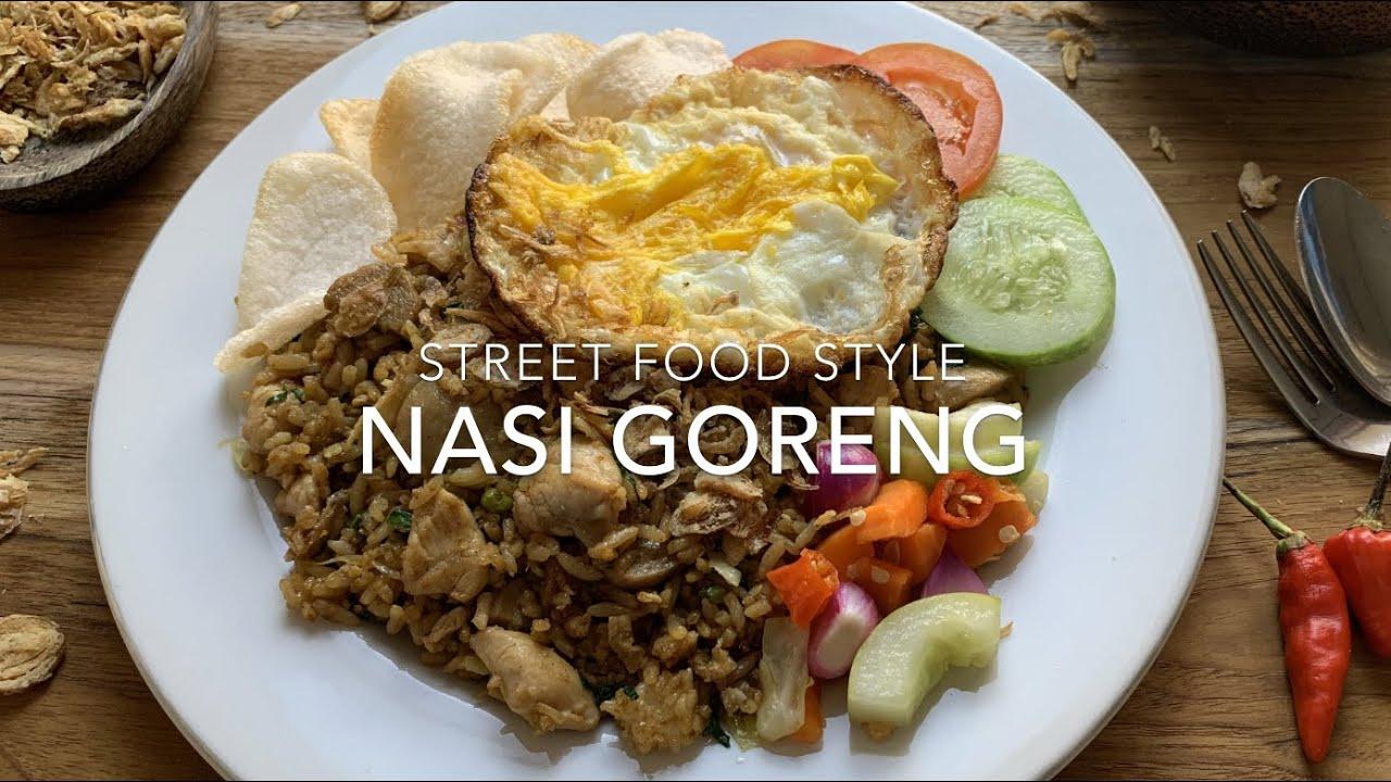 Nasi Goreng Recipe Street Food Style Indonesian Stir Fried Rice English Youtube