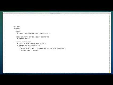 ISO 8859, XML TUTORIAL, PART 9