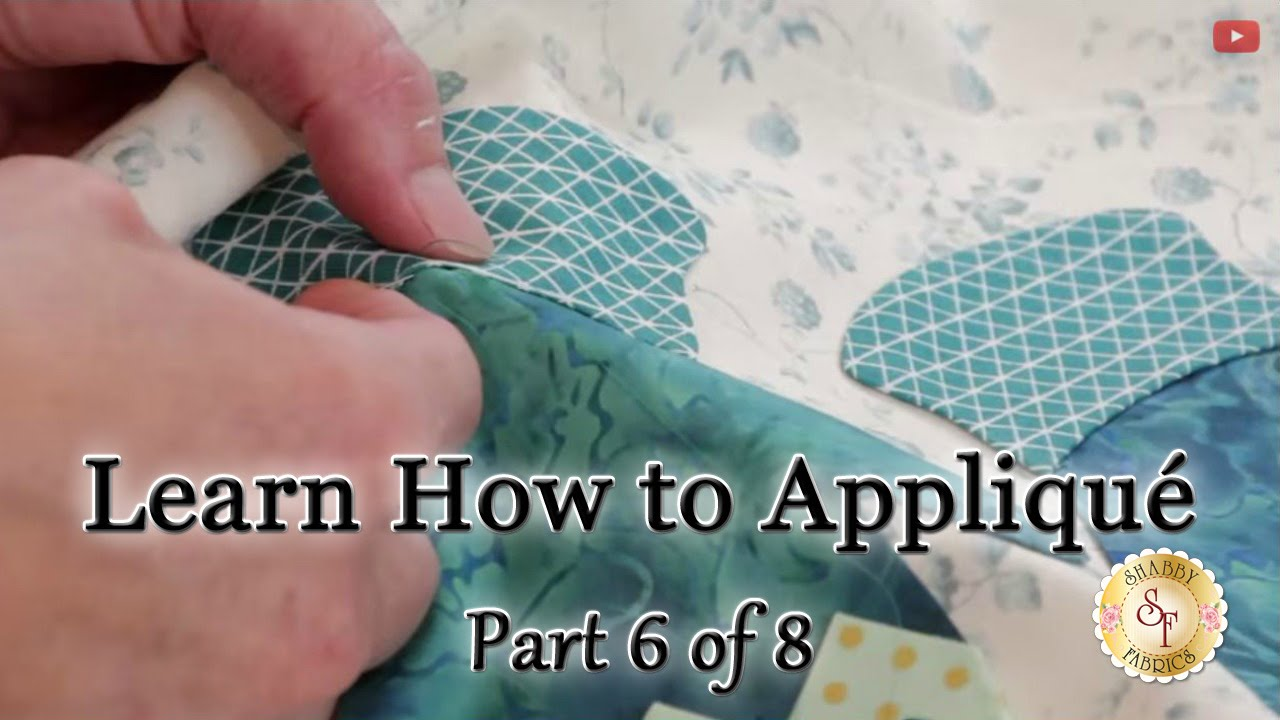 Learn how to appliqué with shabby fabrics part 6: hand sewing