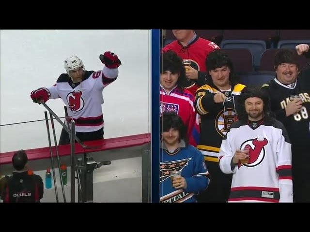 Jagr's mullet brigade shows their support