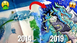DRAW THIS AGAIN CHALLENGE !! Recreating a Dragon I drew 5 YEARS ago !!