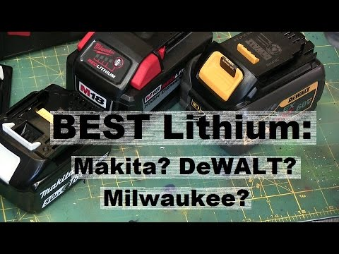 BEST TOOL BATTERY? WHY BIG LITHIUM COST YOU LESS!