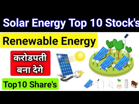 💥Indian Top 10 Solar Company Share's🔋💥Renewable Energy Stock's Solar Energy Share Indian top Solar