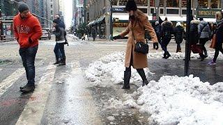 Here's Why Those Slushy Sidewalk Puddles Are Crazy Deep
