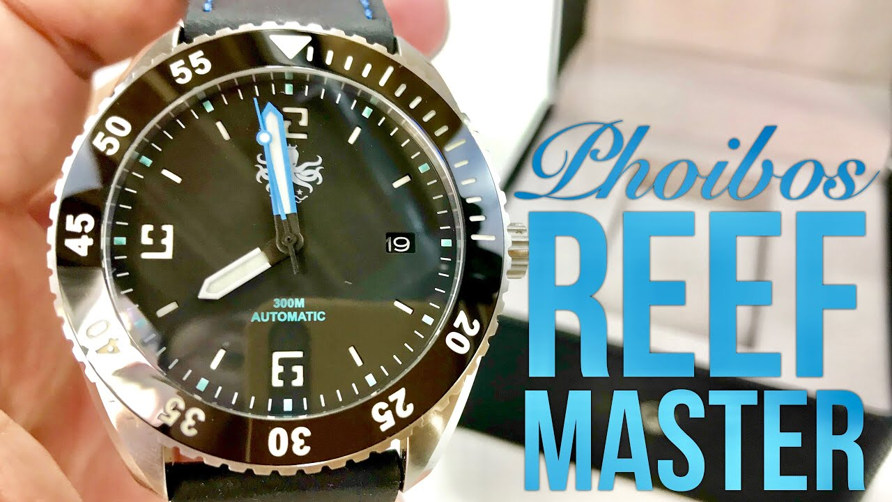 7e5ab6f125e Phoibos Reef Master PY016C Black Automatic Diver Watch Review - YouTube