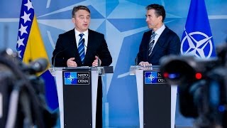 NATO Secretary General - Joint Press Point with Member of the Presidency of Bosnia and Herzegovina