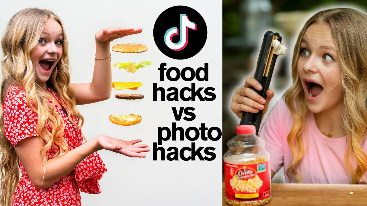 Viral TikTok PHOTO HACKS vs FOOD HACKS