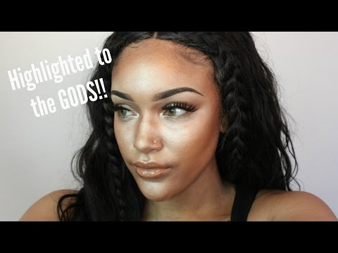 FULL FACE USING ONLY HIGHLIGHTERS CHALLENGE