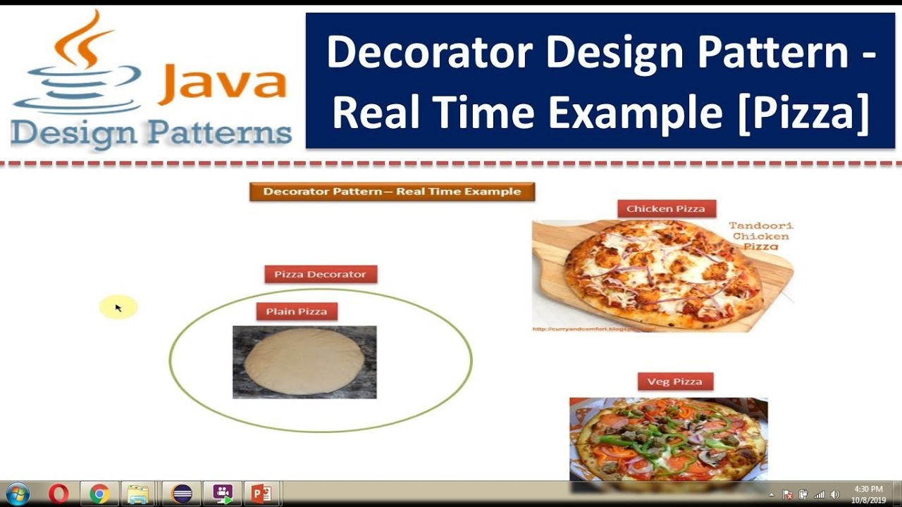 Decorator Design pattern - Real Time Example [Pizza] - YouTube