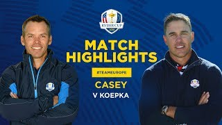 Casey vs Koepka | Ryder Cup Sunday Singles Highlights