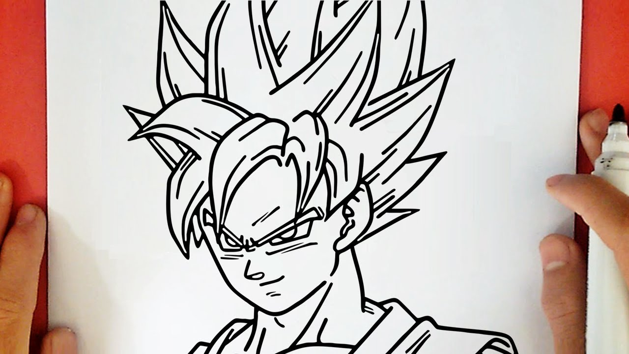 Comment Dessiner Goku Super Saiyan Blue De Dragon Ball Super