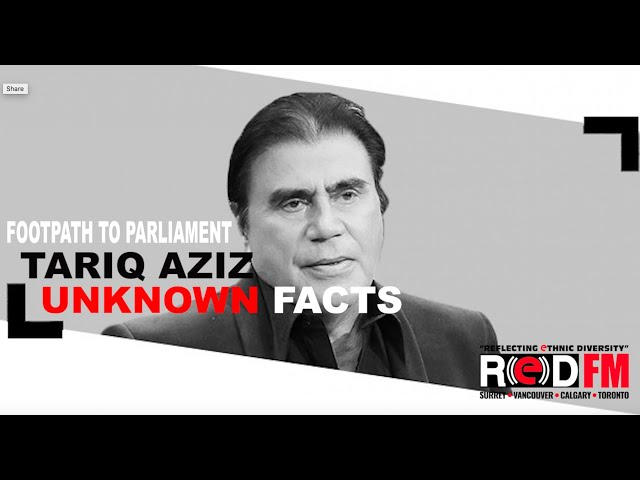 The unknown story of the first to rise from footpath to parliament, the one and only Tariq Aziz!