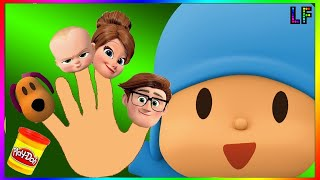 Pocoyo Boss Baby Finger Family Song Nursery rhymes Playdoh