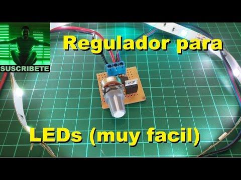 Regulador pwm para leds muy facil de hacer for Regulador para led