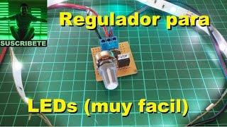 Regulador PWM para LEDs (muy facil de hacer)