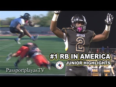 "Najee Harris ""OFFICIAL"" Junior MIXTAPE... STRAIGHT FIRE!!!"