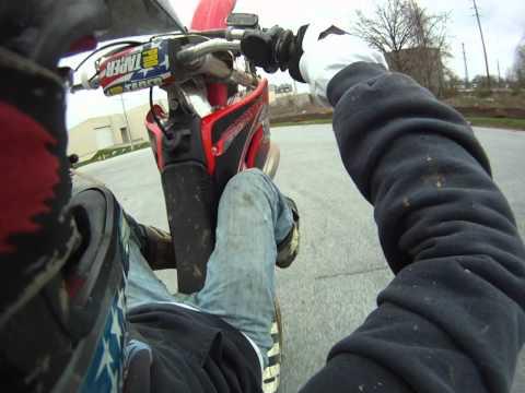 Justin Snow - wheelie CR250