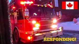Montréal | Montréal Fire Service (SIM) Pumper 219M Responding to Medical Call