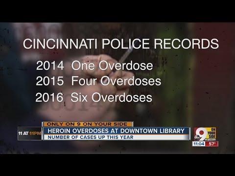 Heroin overdoses increase at Public Library of Cincinnati and Hamilton County