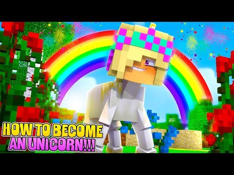 Minecraft HOW TO BECOME A UNICORN!! Little Leah Roleplay