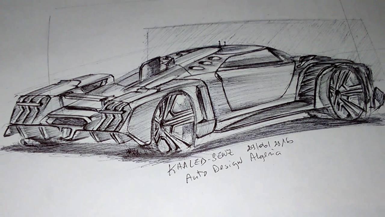 Supercar Sketch Design Youtube