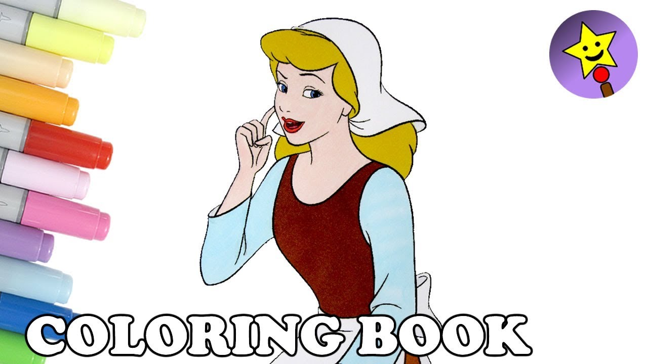 Cinderella Coloring Book Page Disney Princess Cinderella