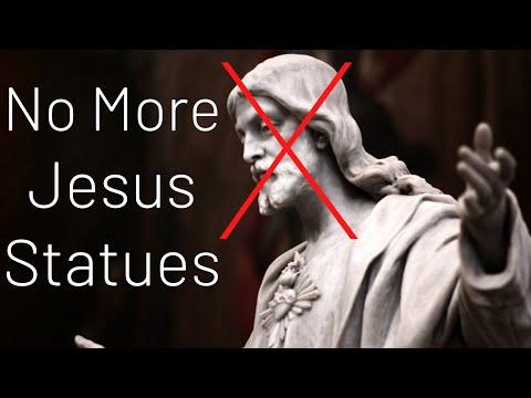 Tearing down JESUS Statues...