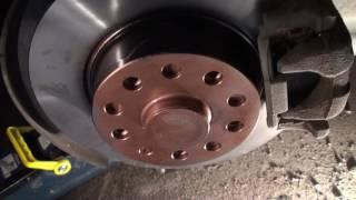 замена тормозных дисков Octavia A5/brake rotors change on Octavia A5