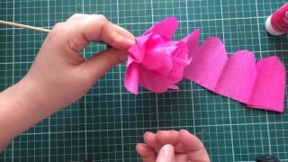Flor de papel crepom FÁCIL
