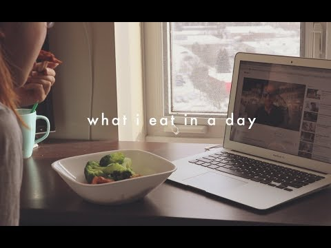what i eat in a day! (university student)