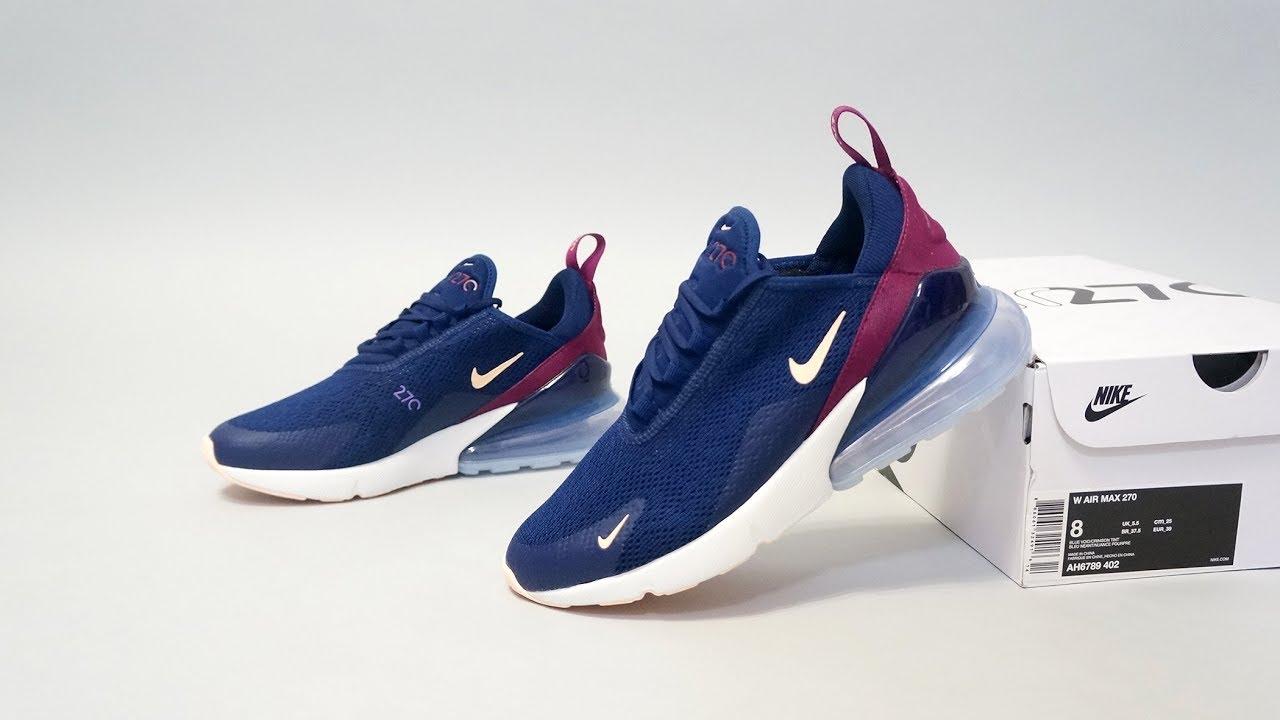 3f408ad5d4 Nike Air Max 270 Blue Void AH6789-402 - YouTube