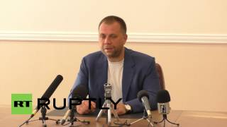 Ukraine: DPR Prime Minister asks for peaceful settlement