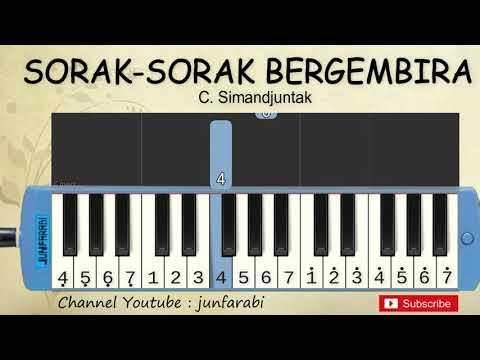 not pianika indonesia tetap merdeka / sorak bergembira - belajar pianika
