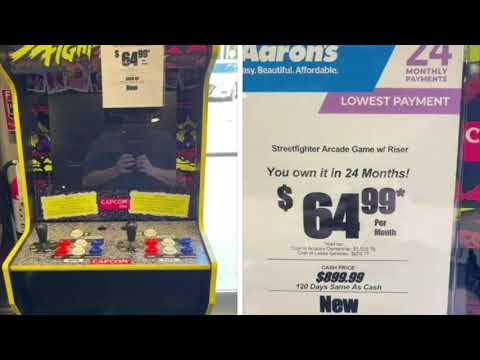 Arcade1Up Rent To Own Scam Overpriced Arcade 1Up from rarecoolitems