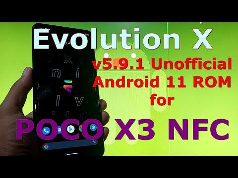 Evolution X v5.9.1 for Poco X3 NFC (Surya) Android 11