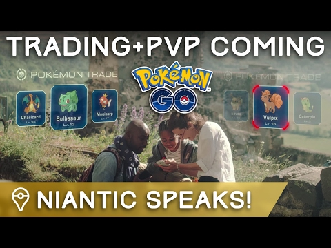 NIANTIC CONFIRMS TRADING, PVP, & EVENTS COMING TO POKÉMON GO