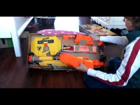 Nerf Stampede Ecs Un Boxing And Review 9 9 10 Gun Youtube
