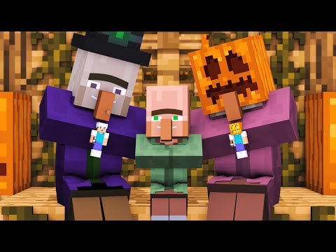Villager & Witch Life [Full Animation] - Alien Being Minecraft Animation