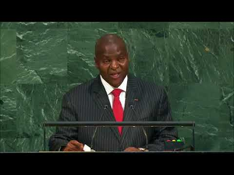 Speech by President Touadera at the UN