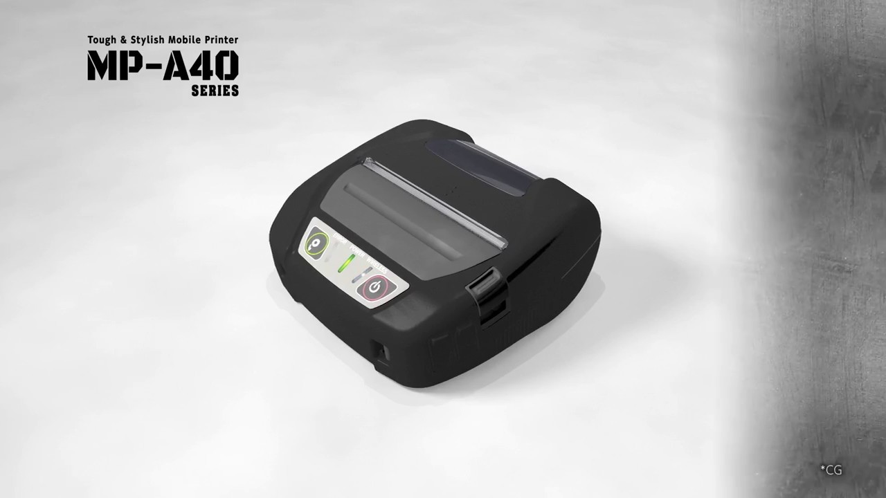 tough stylish mobile printer mp a40 youtube