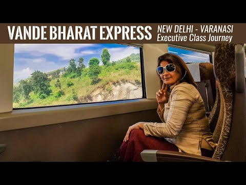 Vande Bharat Express New Delhi Varanasi Executive Class Journey | Inaugural Run | Train Vlog