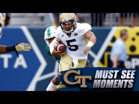 Georgia Tech QB Justin Thomas' Nimble Spin Move Like Braxton Miller