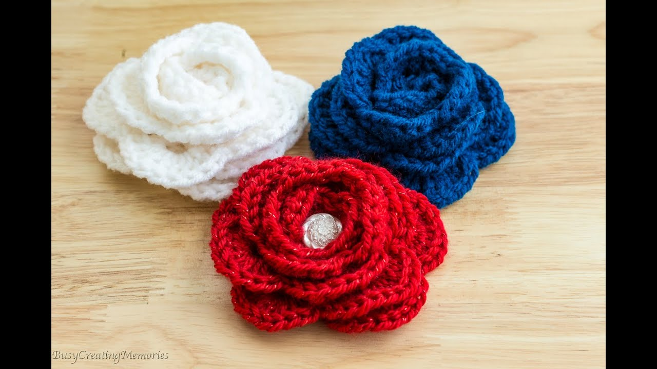 How to Crochet a Rose - Easy Beginner Friendly - Left Hand - YouTube