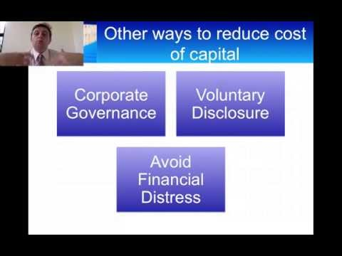 How to Reduce your Company's Cost of Capital
