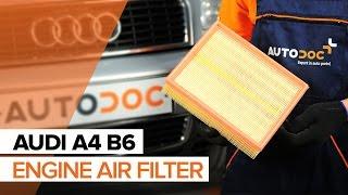 Air Filter installation AUDI A4: video manual