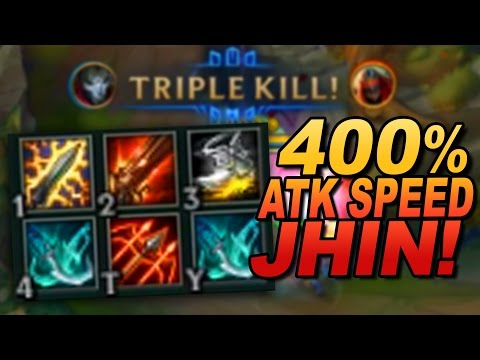 JHIN RECORD: 400% Attack Speed (850 MS, 900 AD, 100% CRIT)