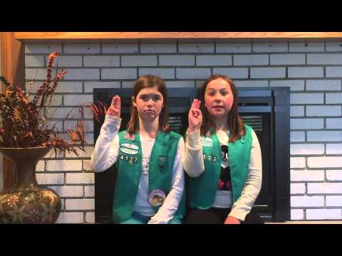 Girl Scouts 101 - Hand sign & hand shake