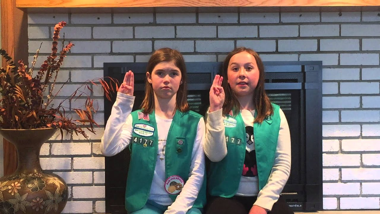 Girl Scouts 101 Hand Sign Hand Shake Youtube